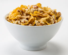 Cereal with almond clusters