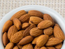 Whole Almonds in a ramekin