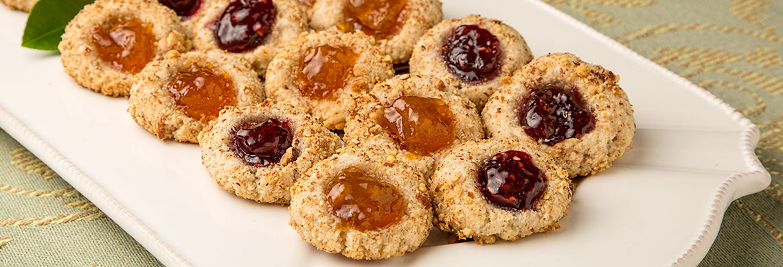 Almond flour thumbprint cookies