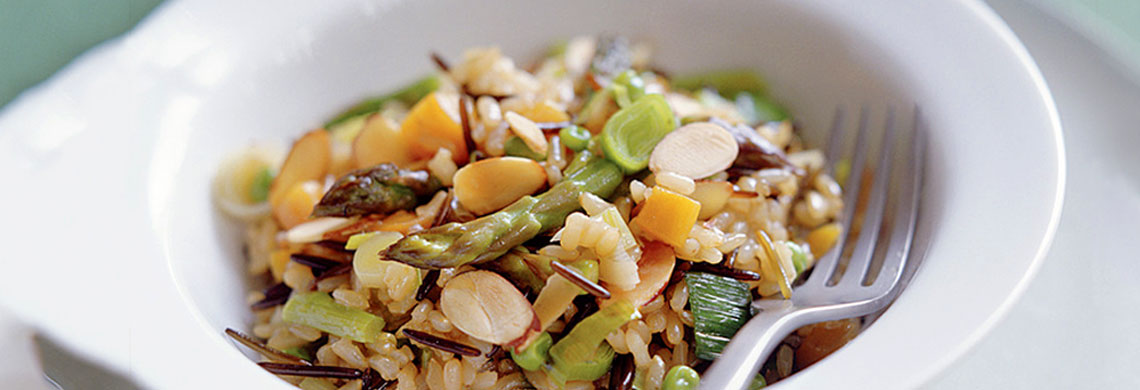 Wild rice risotto