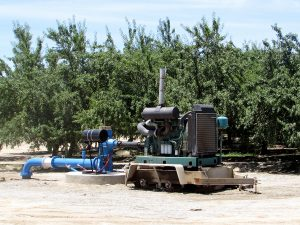A grower's pumping plant near Shafter