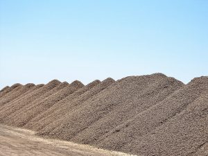 A stockpile of Nonpareil waiting to be shelled.