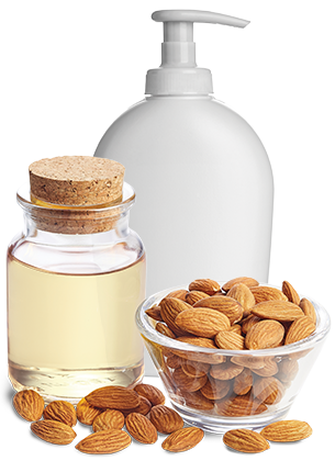 Sweet almond oil used in cosmetic lotion
