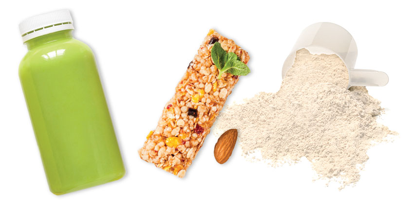 Protein powder shakes and bars