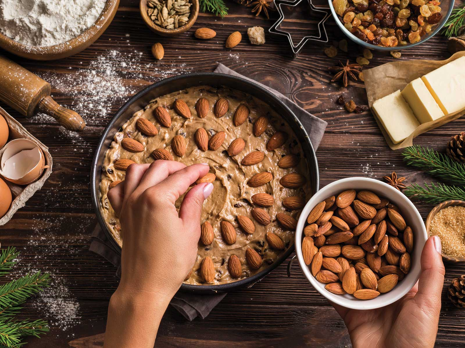 Holiday baking with almonds
