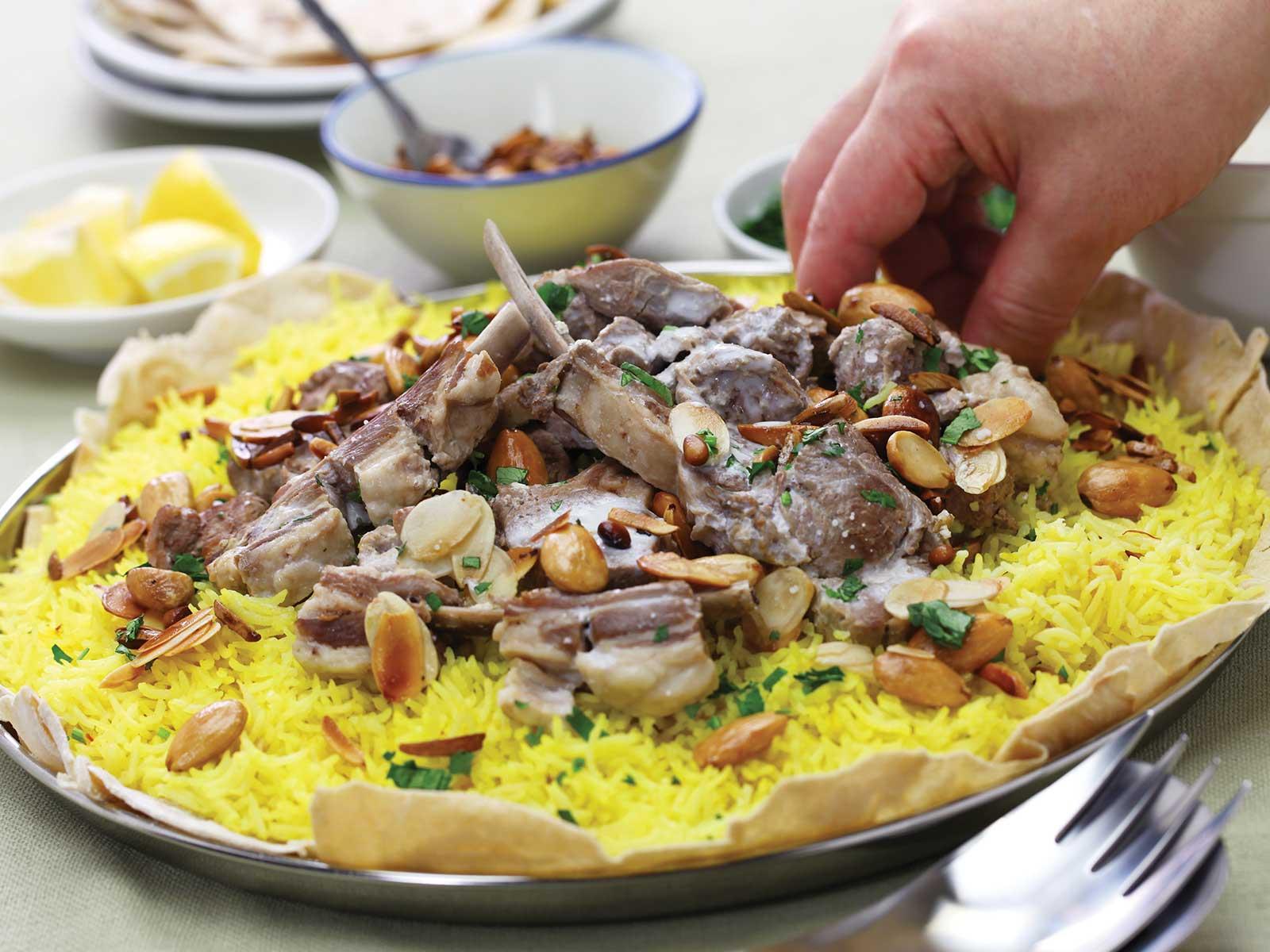 Mansaf rice dish