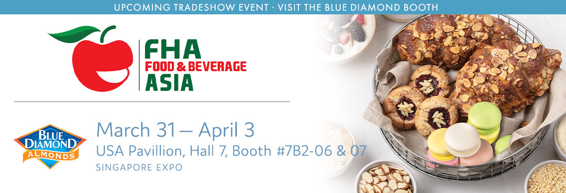 Visit Blue Diamond's booth at Food Hotel Asia